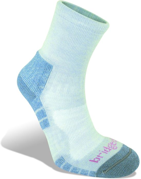 Bridgedale Trail Light Wool Fusion - Wandelsokken -Dames - 41-43 - Grey/Smoky Blue