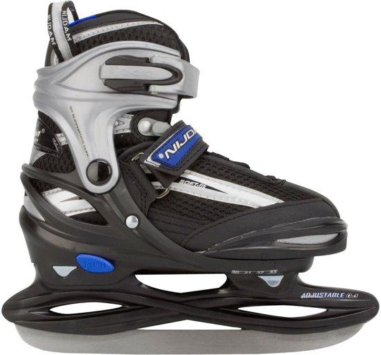 Nijdam 3172 Junior IJshockeyschaats - Verstelbaar - Semi-Softboot - Grijs/Zwart - Maat 30-33,Nijdam