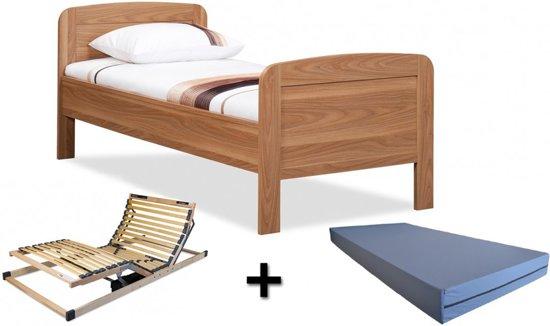 Ledikant Compleet Bed.Complete Set Ledikant Senioren Seniorenbed 90x200cm Eiken