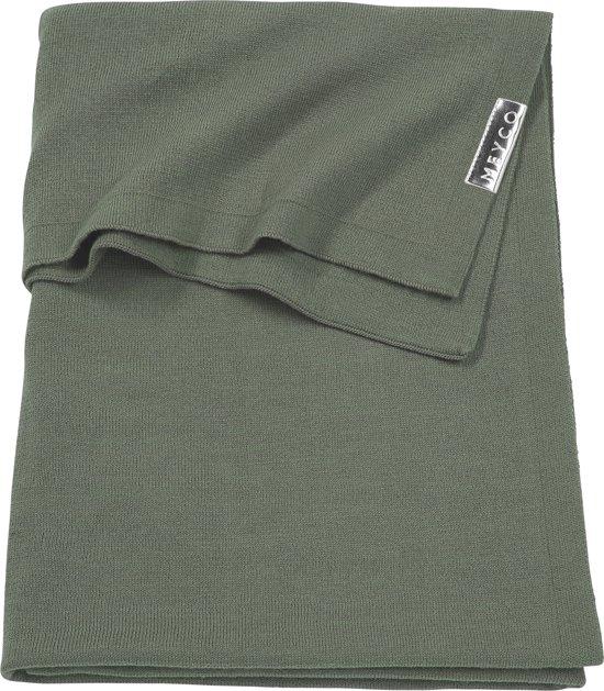 Meyco wiegdeken Knit basic - 75x100 cm - forest green