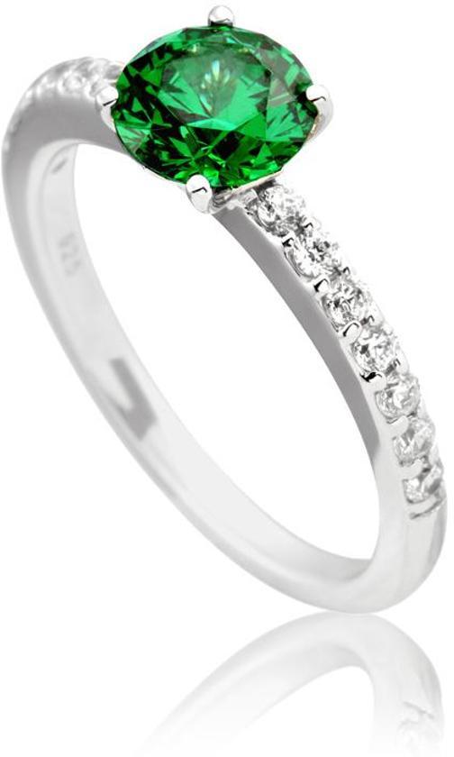 Genoeg bol.com | Diamonfire - Zilveren ring met steen Maat 18.0 - Groene  #YS52