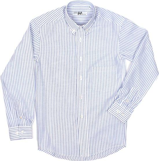Sint-Ludgardis schooluniform - Hemd jongen lange mouw - maat S/16 jaar