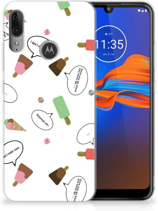 Motorola Moto E6 Plus Siliconen Case IJsjes