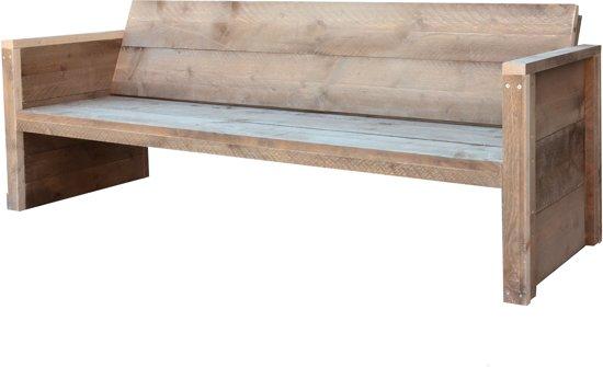 Steigerhouten tuinbank rugleuning original op maat gemaakt