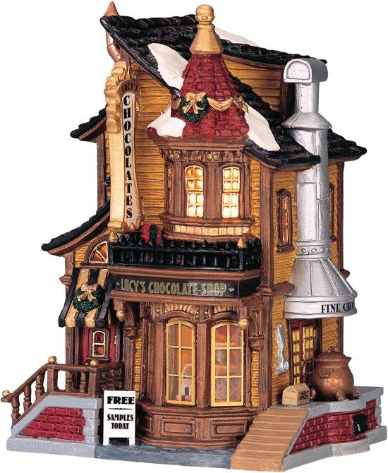 Lemax Kerstdorp Lucys Chocolate Shop - met verlichting