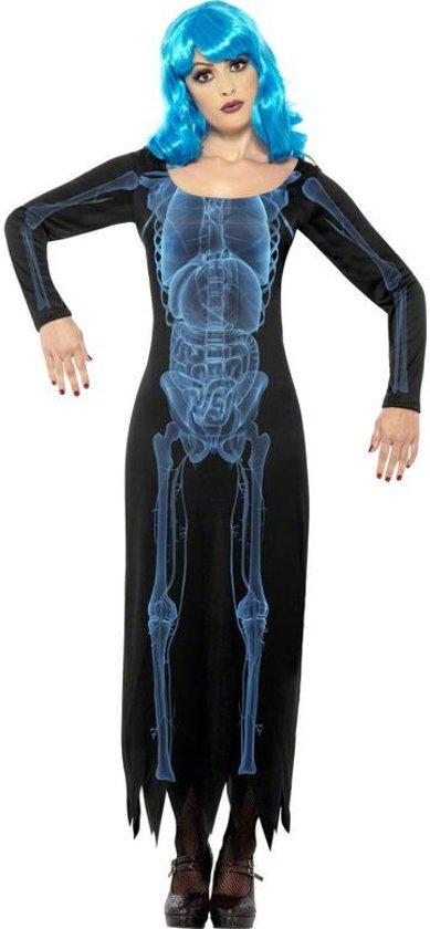Halloween X-ray skelet kostuum voor dames - Verkleedkleding - Large (44-46)