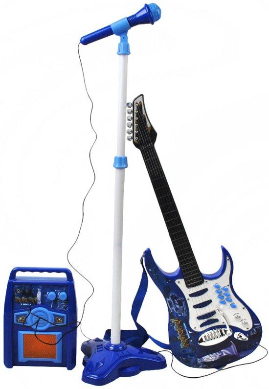beste keuze goed uit x exclusieve deals Elektrische Gitaar kinderen met microfoon en versterker - Speelgoed gitaar  - Zingen en muziek