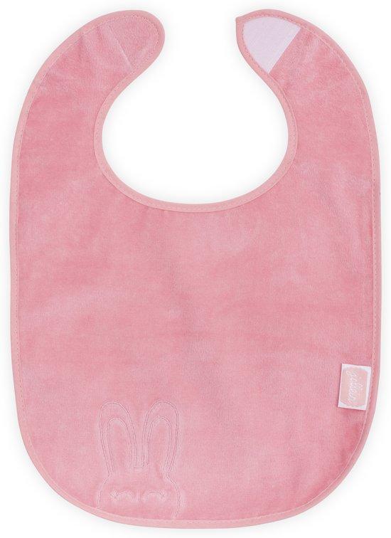 Jollein Sweet bunny slab waterproof velvet terry coral pink