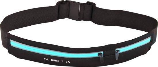 MIIEGO Running Belt - Hardloopriem - Miibelt Zwart/Blauw