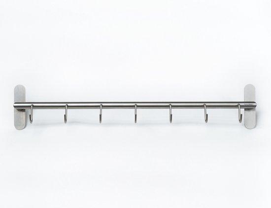 bol | bony design kapstok rvs met 7 haken