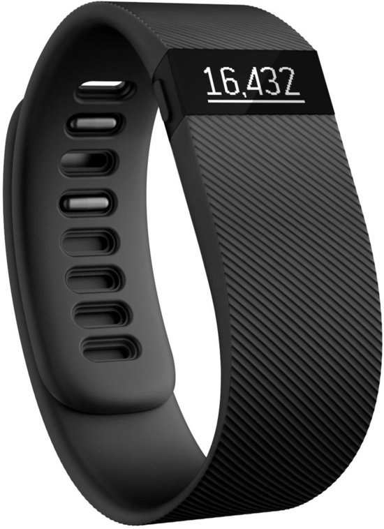 Fitbit Charge Activity Tracker - Zwart - Large in Schuwacht