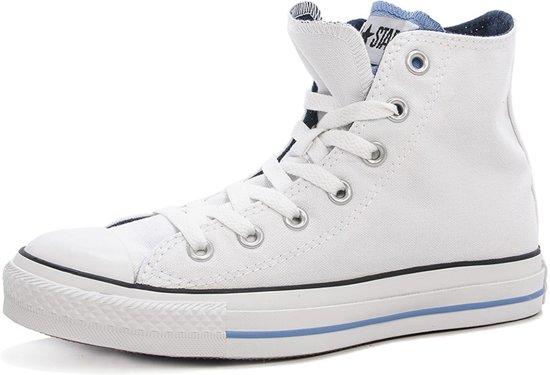 cd98cc2aca4 Converse Chuck Taylor All Star Hi Fresh Colours - Sneakers - Wit/Blauw -  Maat