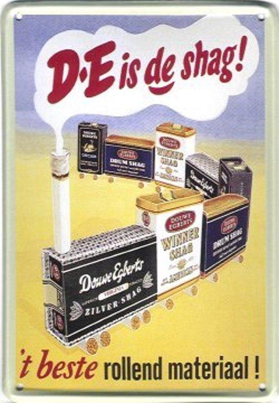 Douwe Egberts Shag reclame DE Best rollend materiaal reclamebord 10x15 cm
