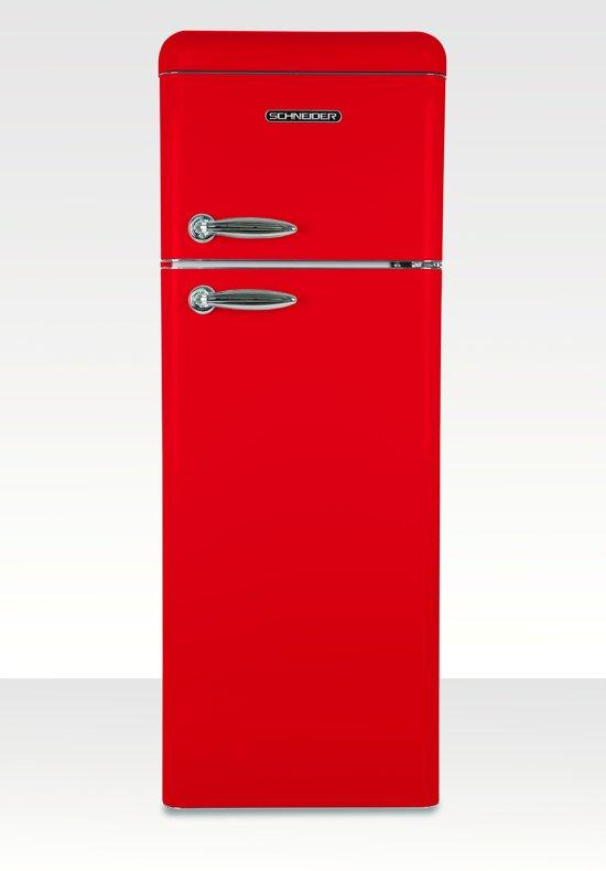 Schneider SL210 FR-DD - Koel-vriescombinatie - Fire Red