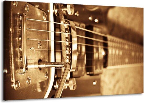 Schilderij   Canvas Schilderij Muziek   Goud, Bruin   140x90cm 1Luik   Foto print op Canvas