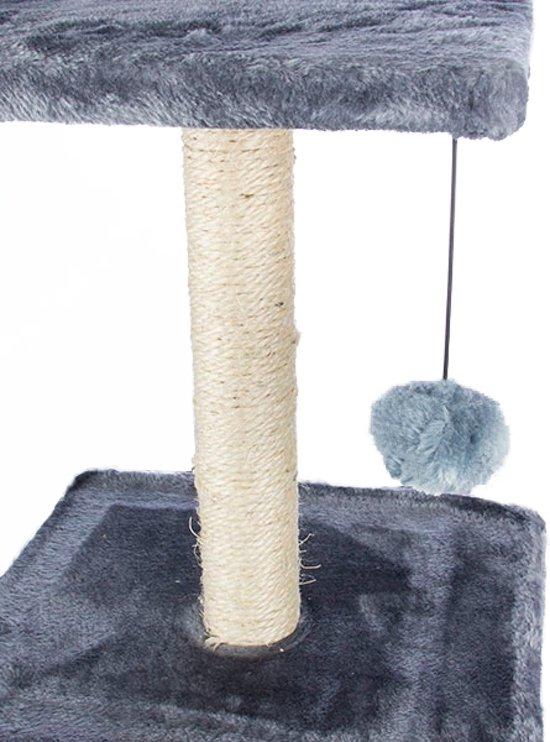 Kattenkrabpaal met Huis Grijs