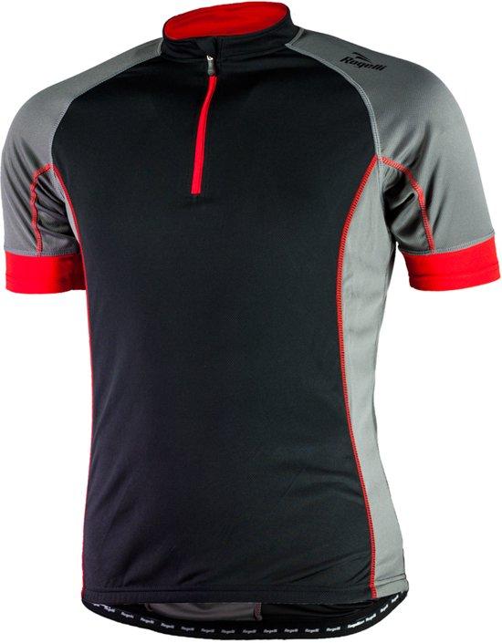 Rogelli Perugia Fietsshirt - Maat S  - Mannen - zwart/rood