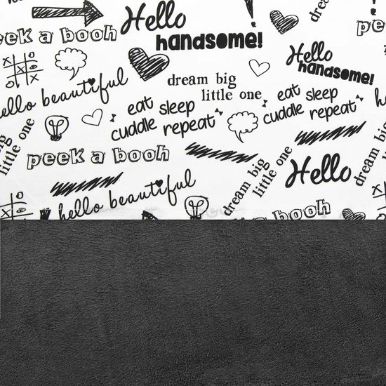Bolcom Little Lemonade Quotes Laken Blackwhite 120x150cm