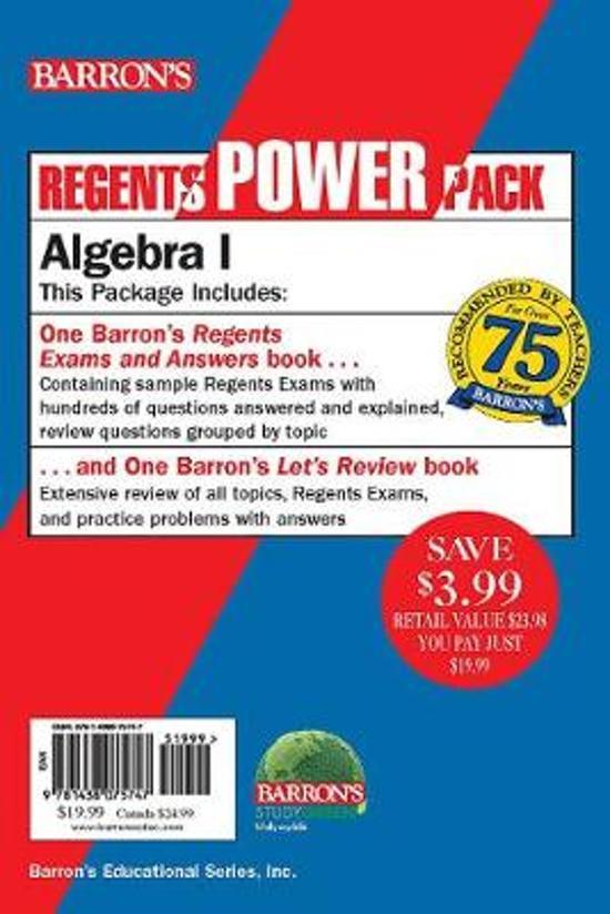 Boek cover Regents Algebra I Power Pack van Gary M. Rubinstein (Paperback)