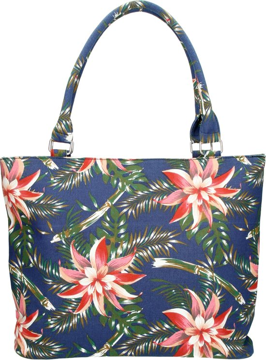 Beagles Tropical Flower Bloemen Zomer Canvas Schouder Tas Shopper
