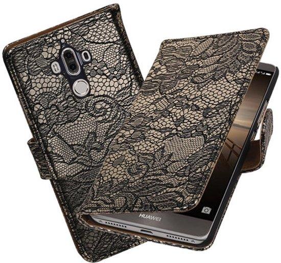 BestCases.nl Huawei Mate 9 Lace booktype hoesje Zwart in Wezemaal
