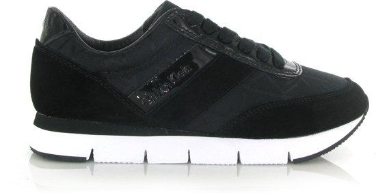 0daeba5a363 Calvin Klein Jeans Tea suède sneakers - Zwart- Damesschoenen - Maat: 37