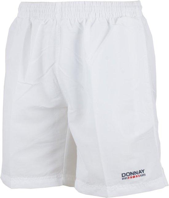 Donnay Micro Fibre Short - Sportbroek - Heren - Maat M - Wit