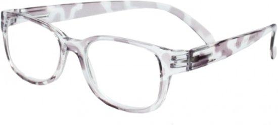 Leesbril Dames transp/paars +2.0