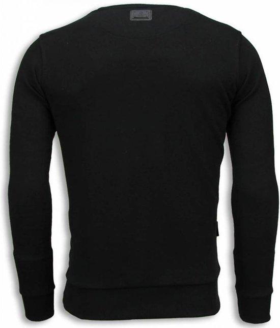 Zwart Local Sweater Skull Gangster Fanatic Maten Digital Rhinestone Xl Rrq4YrWTw