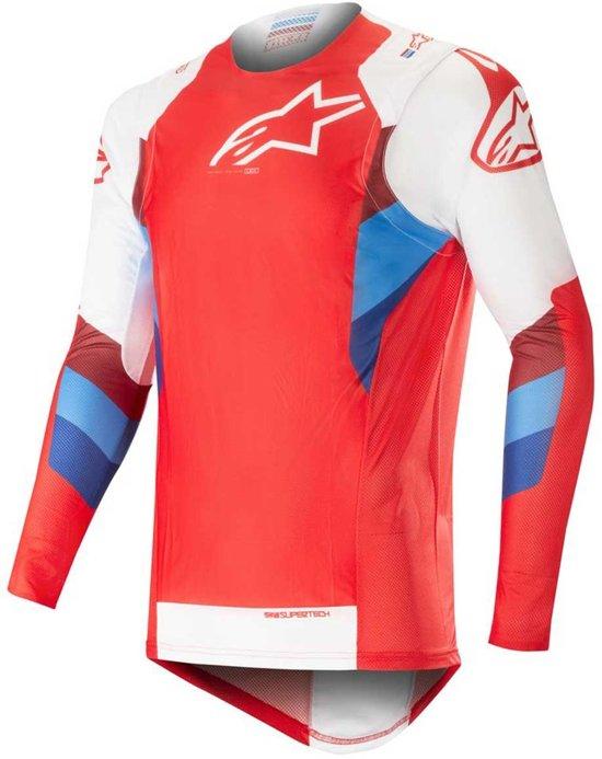 Red xl white Supertech Alpinestars Crossshirt L3ARq5j4