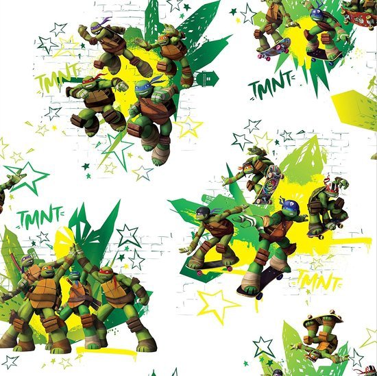 Fotobehang 6 Meter Breed.Bol Com Ninja Turtles Behang Rol 10 Meter 53cm Breed