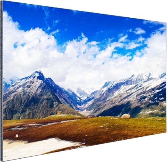 Himalaya in India Aluminium 120x80 cm - Foto print op Aluminium (metaal wanddecoratie)