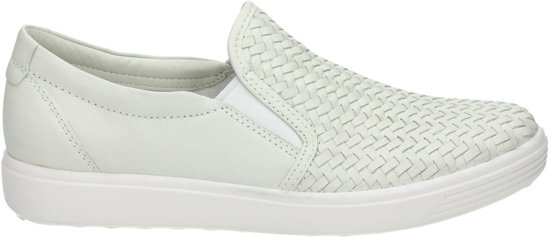 Ecco Soft 7 dames instapper Wit Maat 39