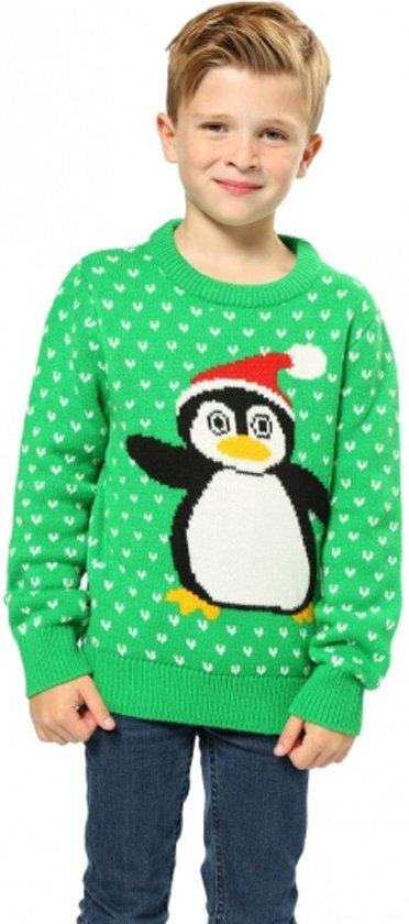 Foute Kersttrui Pinguin.Bol Com Foute Kersttrui Groen Met Pinguin Voor Kinderen 5 6 Jaar