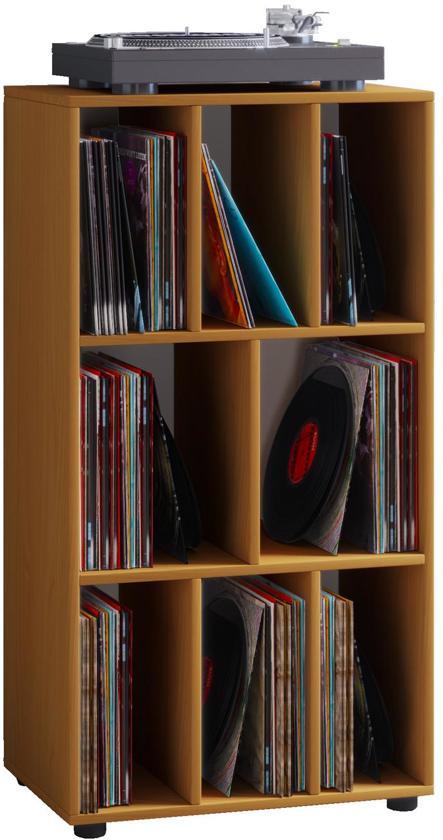 Schoenenkast Beuken Kleur.Bol Com Lp Vinyl Opbergkast Schaltino 8 Vakken Beuken Kleur
