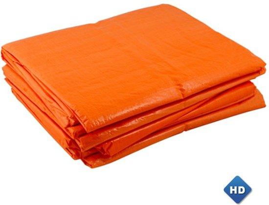 Oranje afdekzeil 5x6m 150gr/m²