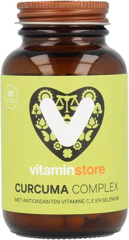 Vitaminstore - Curcuma Complex - 60 vegicaps - Met de antioxidanten vitamine C, E en selenium