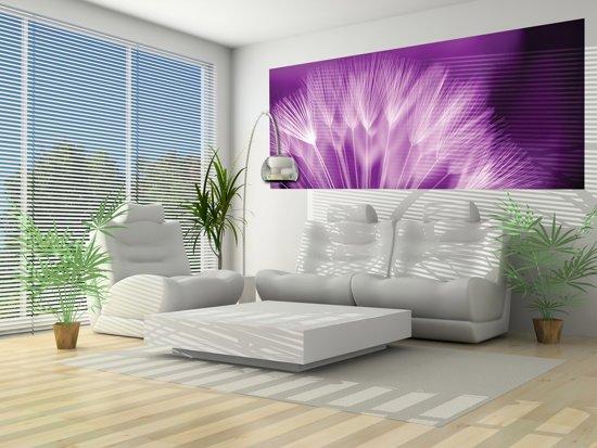 Violet | White Photomural, wallcovering