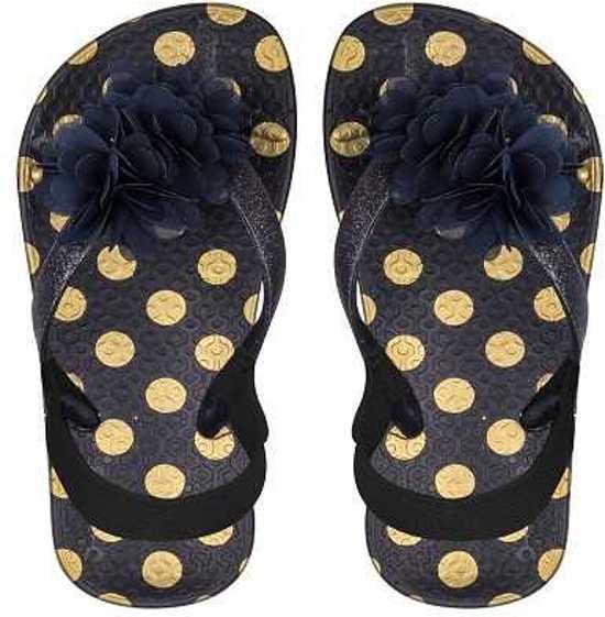 1ee01f0b46e7 Zebra slipper mini zwart goud met hakbandje 22