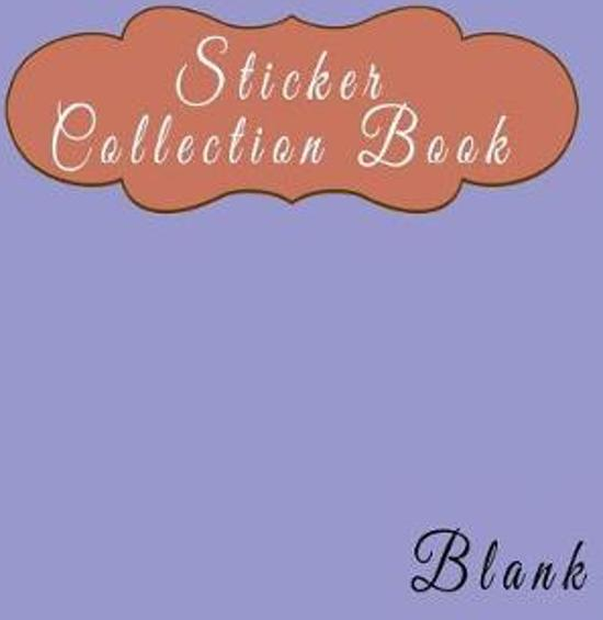 Sticker Collection Book Blank