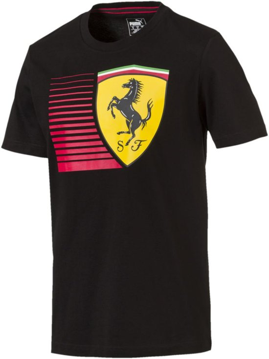 6a236d7e285 bol.com | PUMA Ferrari Big Shield Tee Shirt Heren - Puma Black