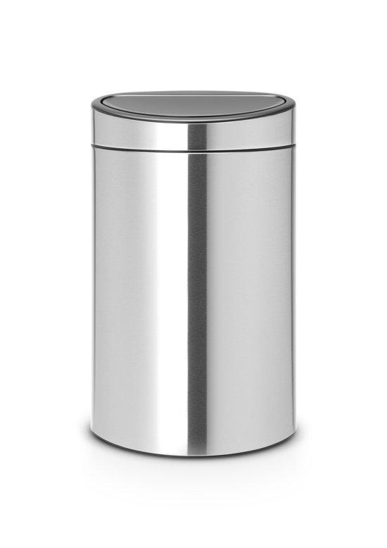 Brabantia Prullenbak 40 Liter.Brabantia Touch Bin Prullenbak 40 L Matt Steel Fingerprint Proof