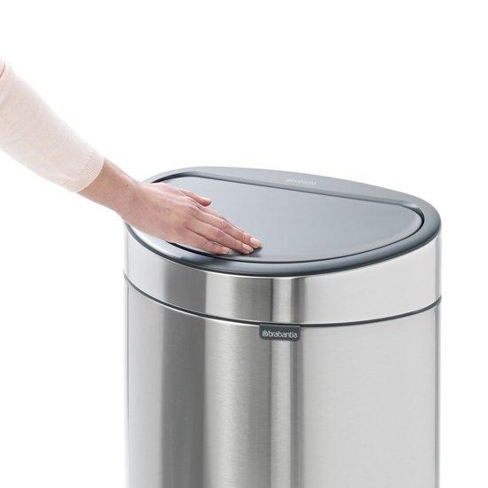 Brabantia Touch Bin 40 Liter Matt Steel Fingerprintproof