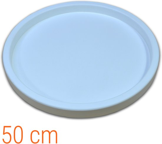 Dienblad Hout Rond Wit 50 cm | Houten Dienbladen 50x50cm Decoratie Serveerplank