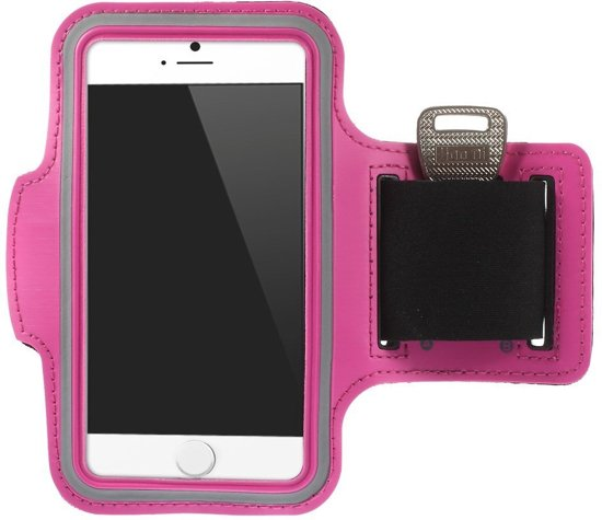 Shop4 - iPhone 7/8 - Sport Armband Reflector Roze
