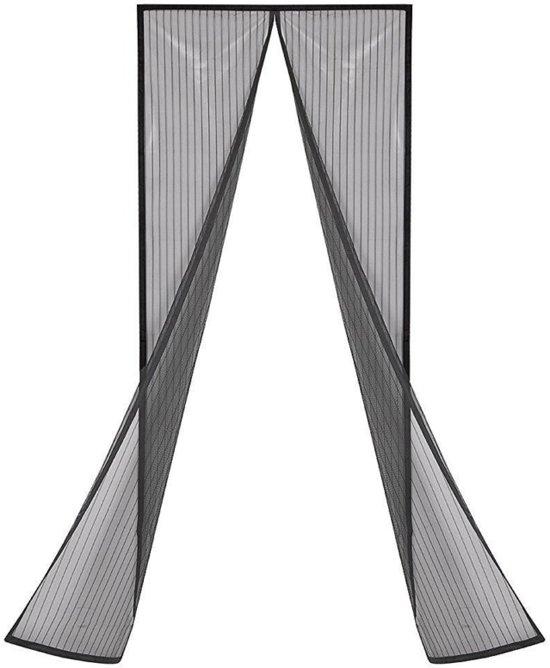 Deurhor vliegengordijn met Magneet - Magnetisch Anti Insecten Horgordijn - Hordeur Deurgordijn - Zwart