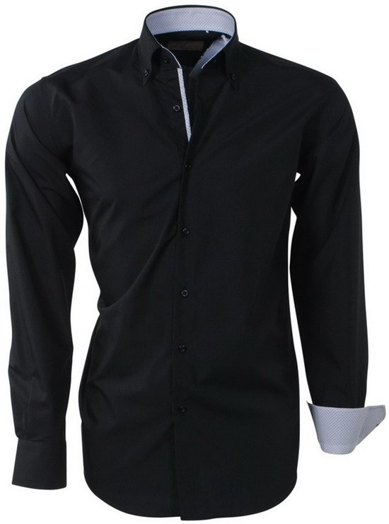 In Zwart Kraag Overhemd Ongetailleerd Brentford And De Son Heren Design A8TwnYqxSz