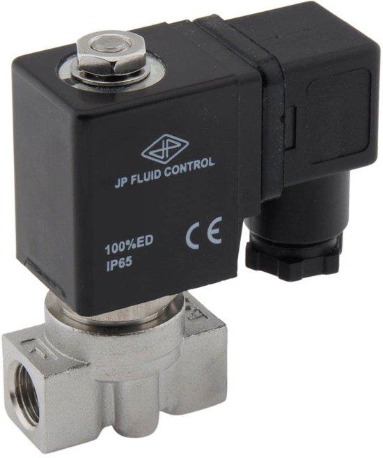 Magneetventiel HP-DA 1/4'' hoge druk rvs FKM 0-75bar 24V DC - HP-DA014S010F-024DC