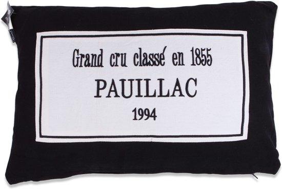 In The Mood Pauillac - Sierkussen - 40x60 cm - Zwart