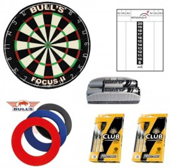 Dragon darts - Purple darts startersset- Dartbord - dartbord surround ring - dartpijlen - etc.